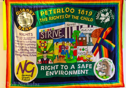 Peterloo Banner - Newall Green School