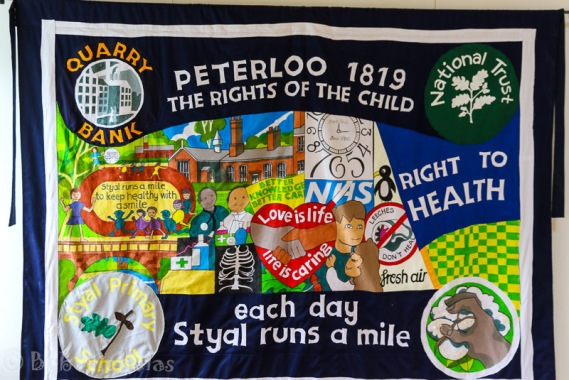 Peterloo Banner - Styal Primary School