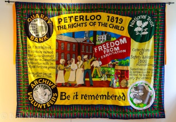Peterloo Banner - Archive Volunteers